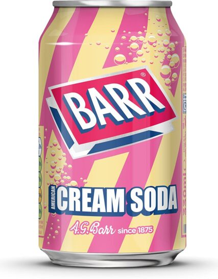 Barr American Cream Soda Fizzy Drink Cans, 330ml, (Pack of 24)