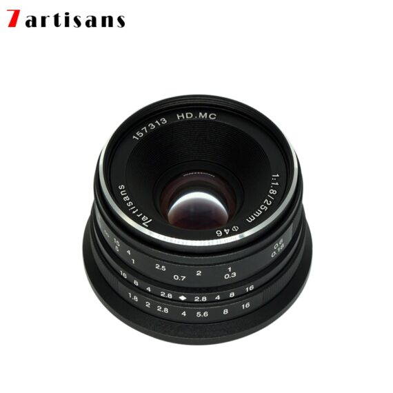 7artisans 25mm F1.8 Prime Lens for Sony E Mount /Fujifilm/Canon EOS-M Mout Micro 4/3 Cameras A7 A7II A7R Free Shipping
