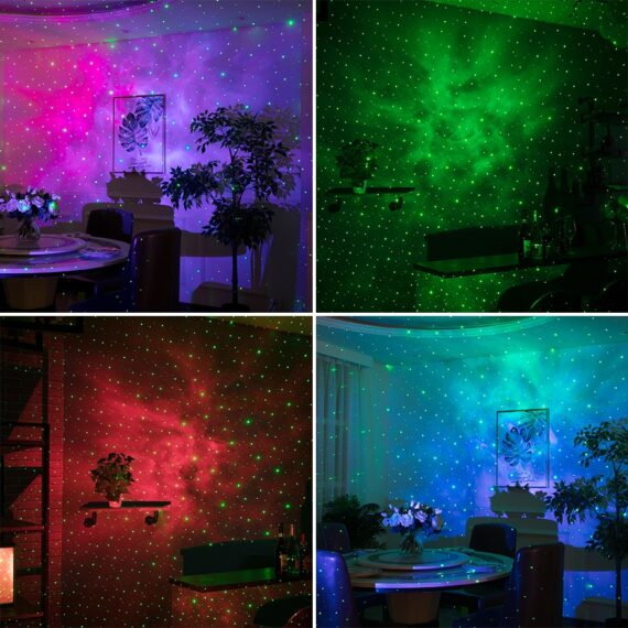 ALIEN Remote Star Galaxy Laser Projector Starry Sky Stage Lighting Effect Bedrooms Kids Room Party Night Holiday Wedding Lights