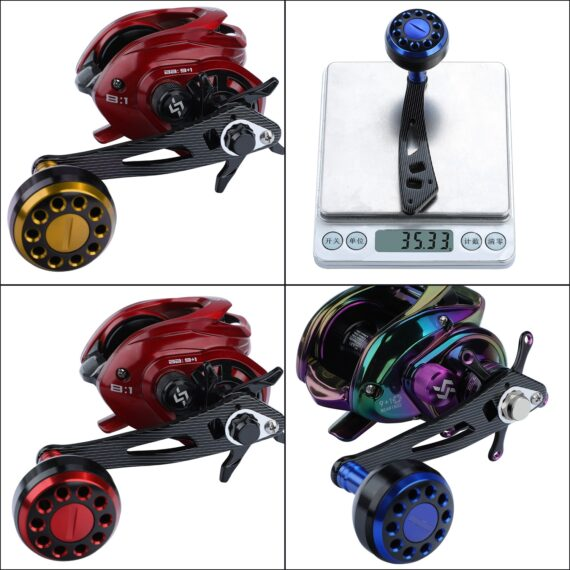 Sougayilang Top Fishing Reel Handle Aluminum Alloy Top Quality Strong Durable Fish Reel Handle for Baitcasting Reel Accessory
