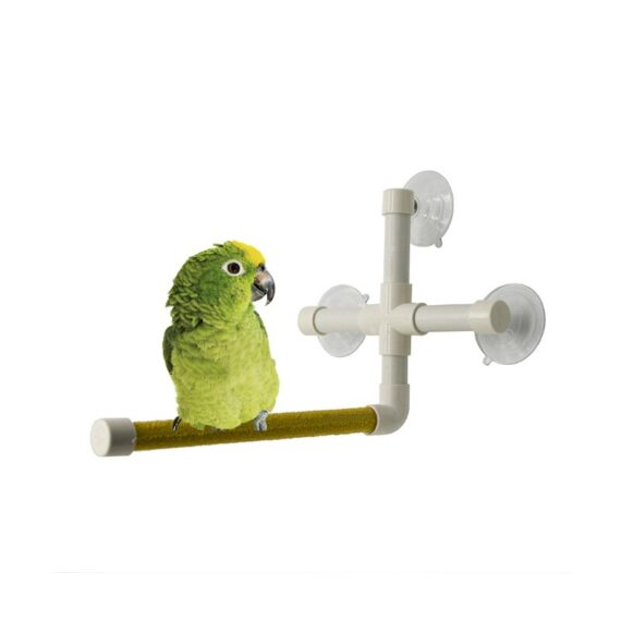 Parrot Bird toy Shower Perches Bird Bath Standing Platform Rack toy Grinding Paw Rod Stick Bar Scrub Stand for Small Large Medium Parrot Stand Rack Platform Budge Paw Grinding Station toys Accessories supplies