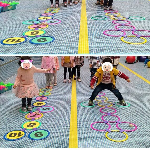 kids outdoor toys Hopscotch Ring Jumping For Kids Sports Outdoor Play Outside Toys Children Garden Backyard Indoor Carnival Game