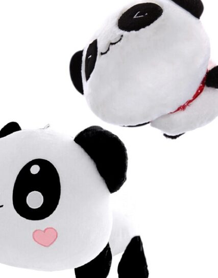 45cm/55cm Cute Cartoon panda plush Toys Smile panda Pillow Doll with hearts on face For Kids Girls gift