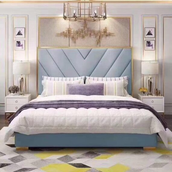 Bedroom Furniture Modern Fabric Bed Hotel Bed