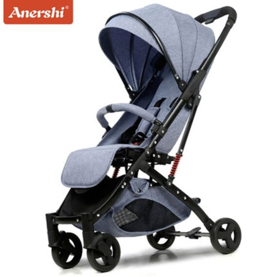 Anershi baby stroller folding portable trolley baby stroller ultra light stroller on the plane ombrelle poussette