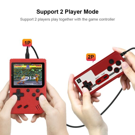 Retro Portable Mini Handheld Video Game Console 8-Bit 3.0 Inch Color LCD Kids Color Game Player Built-in 400 games