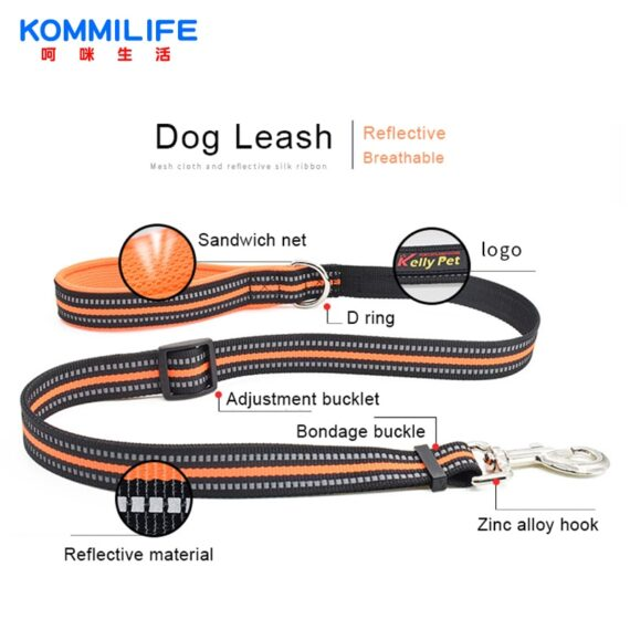Breathable Nylon Mesh Dog Harness Reflective Adjustable Dog Harness and Leash Set For Dogs Pet Collar Leash Dog Accessories