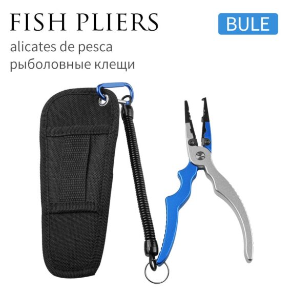 LINNHUE Best Aluminum Alloy Fishing Pliers Grip Set Fishing Tackle Gear Hook Recover Cutter Line Split Ring Fishing Accessories