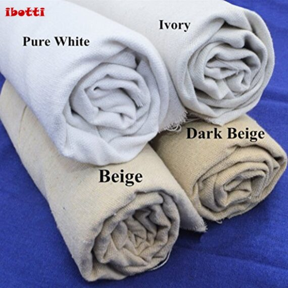 """20""""x 62"""" Natural Linen Fabric for Needle Embroidery Patchwork Costura Tissus Sewing Textiles Tela Felt Shabby Chic Tilda Doll"""