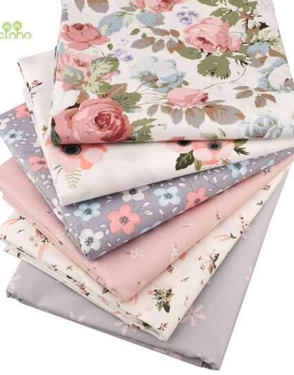 Chainho,6pcs/Lot New Floral Series Twill Cotton Fabric,Patchwork Cloth,DIY Sewing Quilting Fat Quarters Material For Baby&Child