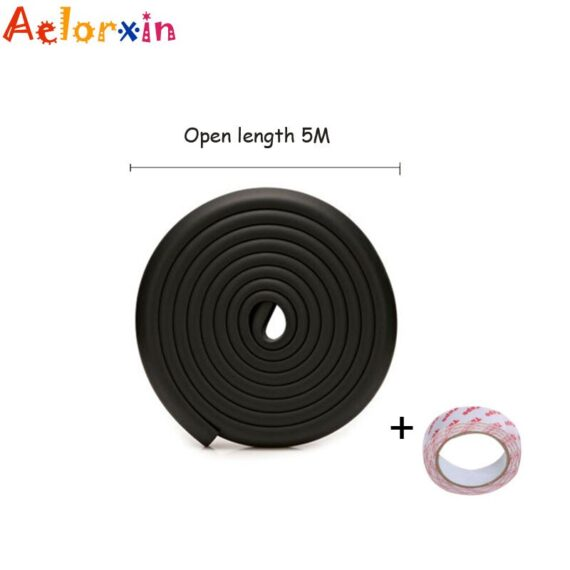 5M High Quality Thicken Baby Safety Table Desk Edge Guard Strip Home Cushion Guard Strip Safe Protection Children Bar Strip Soft