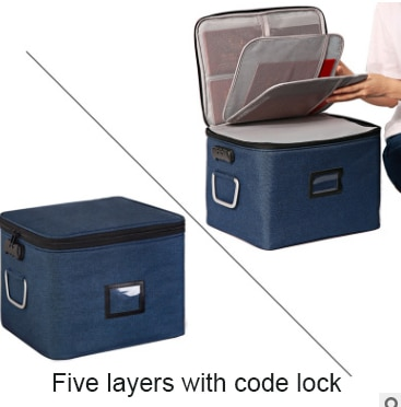 Zipper Storage Bag Large Clothes Luggage Compression Lock Reclosable Storage Bag Portable Travel Home Organization OO50SN