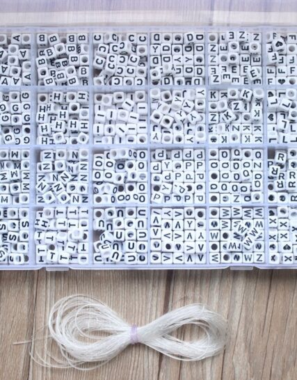 1620pcs Round Acrylic Letter Beads Set for Kid Bracelets Necklace Making Beaded Material Plastic Alphabet Beads boxs