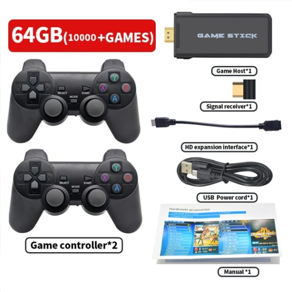 Portable 4K TV Video Game Console With 2.4G Wireless Controller Support CPS PS1 Classic Games Retro Game Console HDMI Output