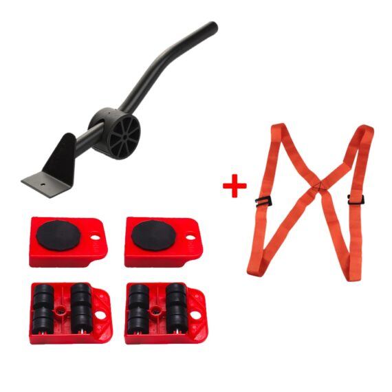 5PCS/Set Professional Furniture Transport Lifter Tool Set Furniture Mover Wheel Bar Roller Device Heavy Stuffs Moving Hand Tools