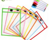 6 Sets Transparent Dry Brush Bag Can Be Reused With PVC PET Writing Dry Wipe Bag Drawing Toy For Kids Children Adult GYH