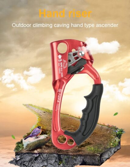 Outdoor Climbing Ascender Sports Right Left Hand Lightweight wear resistant Mountaineer Handle Ascender Climbing Rope Tools